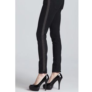 AG Remi Super Skinny Tux Jeans with Shimmer Sides